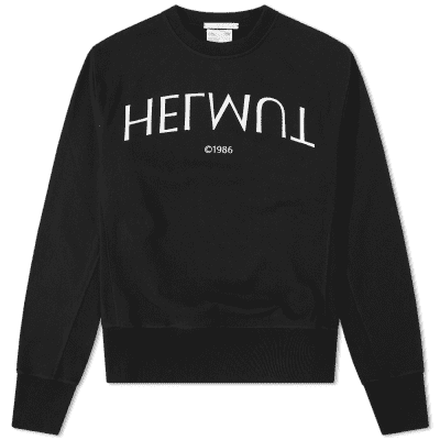 Helmut Lang Logo Hack Crew Sweat