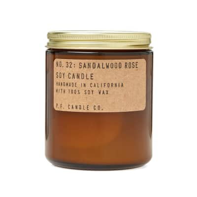 P.F. Candle Co No.32 Sandalwood Rose Soy Candle