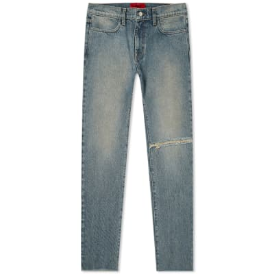 424 Distressed Straight Leg Jean