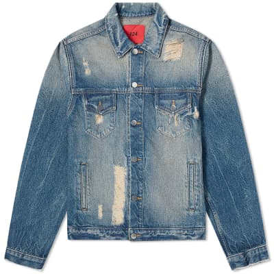 424 Distressed Trucker Jacket
