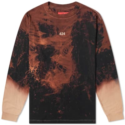 424 Long Sleeve Reworked Bleached Tee