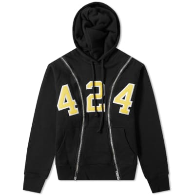 424 Reworked 424 University Zip Hoody