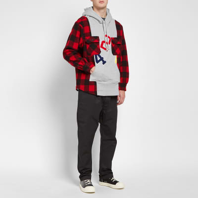 424 Reworked Flannel Hooded Workshirt