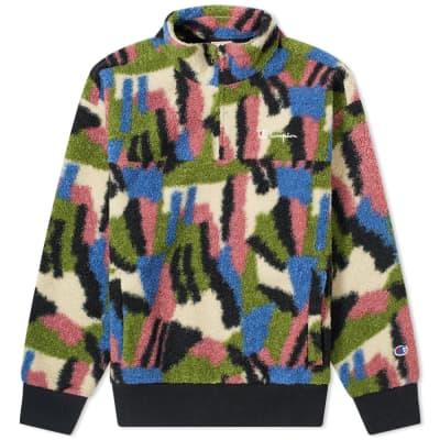 Champion Reverse Weave Women's Multi Pattern Fleece 1/4 Zip