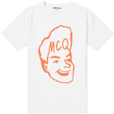 McQ Alexander McQueen Face Logo Print Tee
