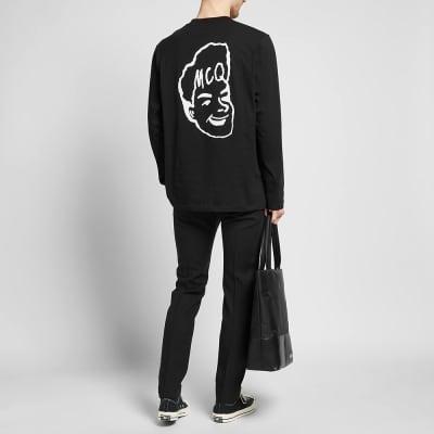 McQ Alexander McQueen Long Sleeve Face Logo Tee