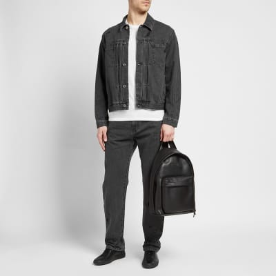 McQ Alexander McQueen Pleated Denim Jacket