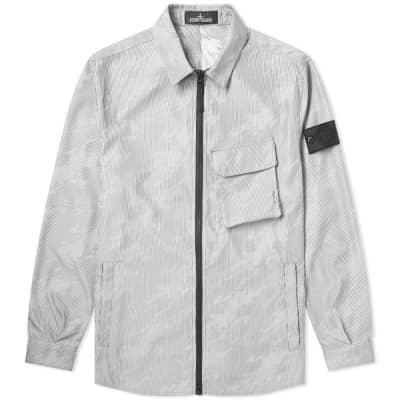 Stone Island Shadow Project Lenticular Jacquard Zip Shirt Jacket