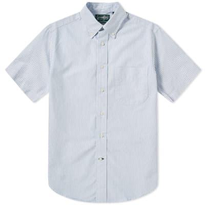 Gitman Vintage Short Sleeve Stripe Oxford Shirt