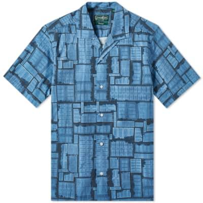 Gitman Vintage Short Sleeve Camp Collar Overdyed Courts Shirt