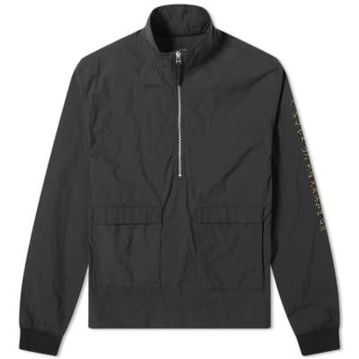 Maharishi Leopard Logo Half Zip Popover Jacket