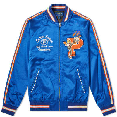 Polo Ralph Lauren Washed Satin Souvenir Jacket