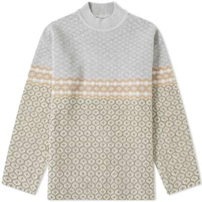 Jil Sander Fair Isle Intarsia Knit