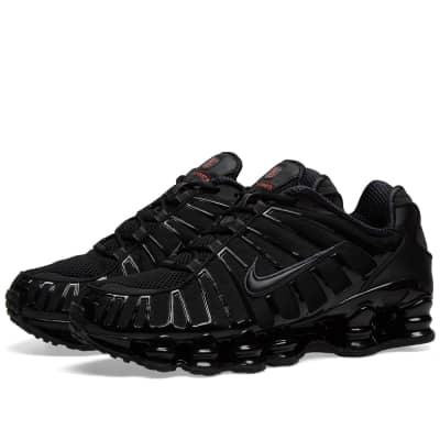 889fe88001100 Nike Shox TLBlack, Hematite & Max Orange£149