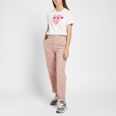 Comme des Garcons Play Women's Double Heart Logo Tee