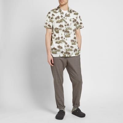 Onia Hawaiian Landscape Vacation Shirt