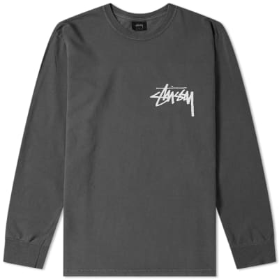 Stussy Long Sleeve Stock Pigment Dyed Tee