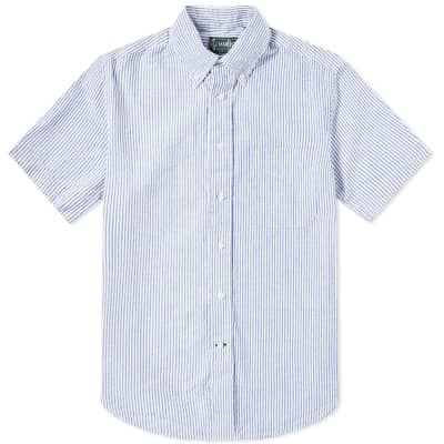 Gitman Vintage Short Sleeve Stripe Seersucker Shirt