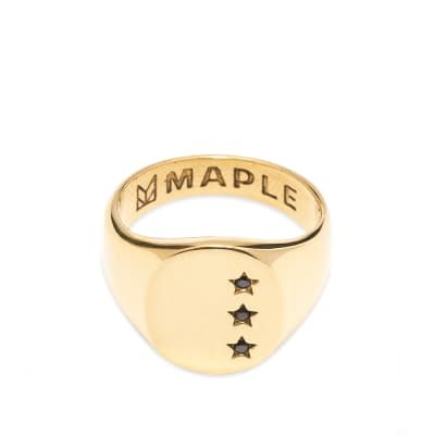 Maple Star Signet Ring