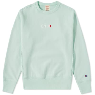 END. x Champion Reverse Weave Terry Crew Sweat