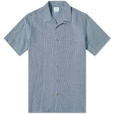 Paul Smith Houndstooth Mix Vacation Shirt