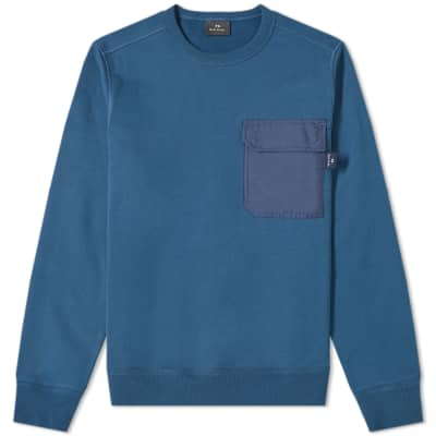 Paul Smith Nylon Pocket Crew Sweat