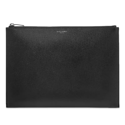 Saint Laurent Grain Leather Tablet Holder