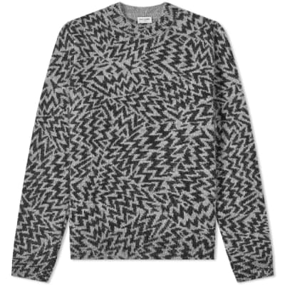 Saint Laurent Jacquard Cosmics Crew Knit