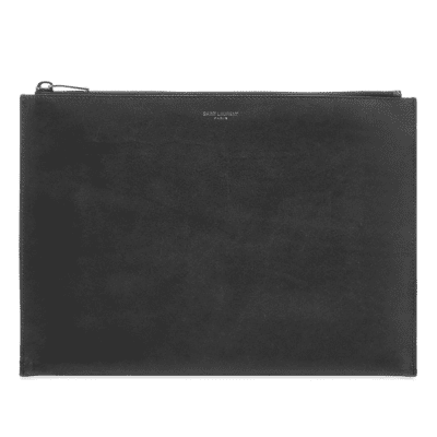 Saint Laurent Smooth Leather Tablet Holder