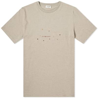 Saint Laurent Stars Archive Logo Tee
