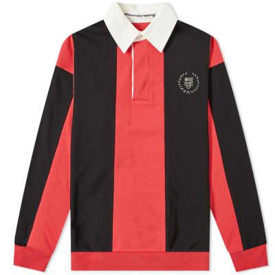 Alexander Wang Striped Motif Rugby Shirt