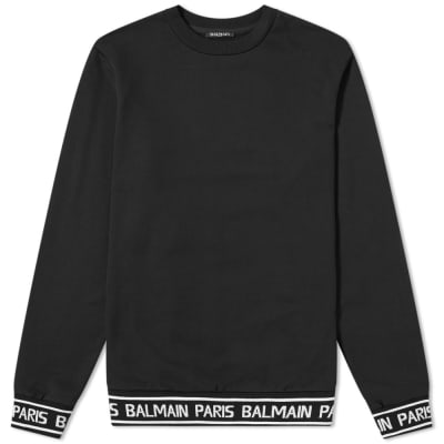 Balmain Logo Taped Crew Sweat