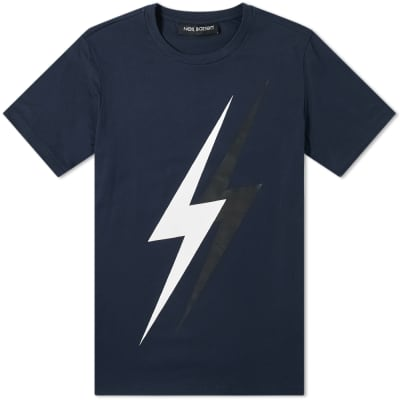 Neil Barrett Large 3D Lightning Bolt Tee