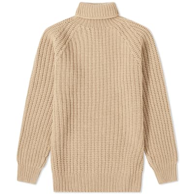 Officine Generale Cardigan Stitch Turtle Neck Knit