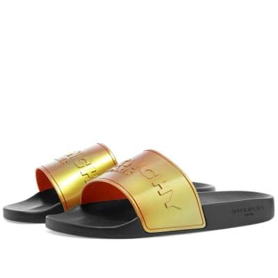 55f0ce64b6d1 Givenchy Iridescent Logo Slide Sandal