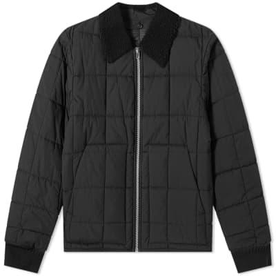 Helmut Lang Fur Collar Quilted Bomber Jacket