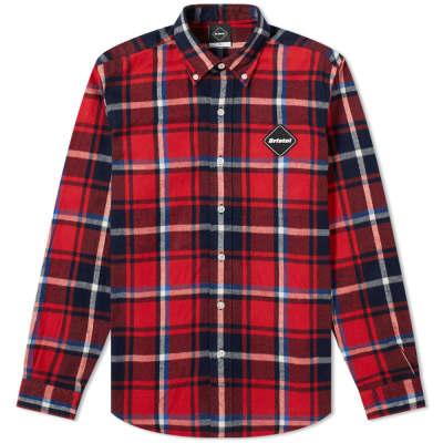 F.C. Real Bristol Big Logo Flannel Button Down Shirt