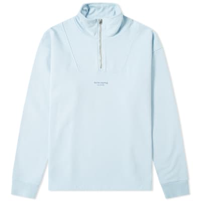 Acne Studios Faraz Stamp Quarter Zip Sweat