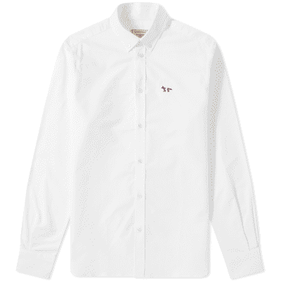 Maison Kitsuné Button Down Classic Tricolour Fox Oxford Shirt