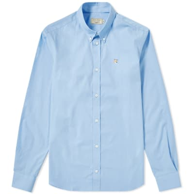 Maison Kitsuné Fox Head Embroidery Poplin Shirt