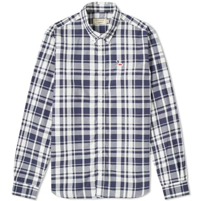 Maison Kitsuné Large Check Button Down Shirt