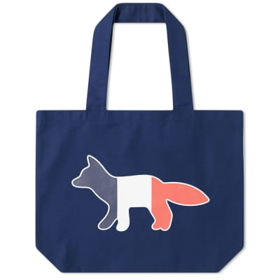 Maison Kitsuné Tricolour Fox Tote Bag