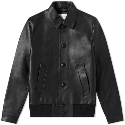 MKI Leather Button Down Rider Jacket