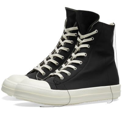 Rick Owens DRKSHDW Contrast Stitch High Top Canvas Sneaker