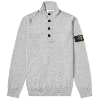 Stone Island Half Button Collar Knit