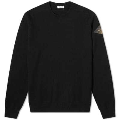 Saint Laurent Patch Logo Knit Crew