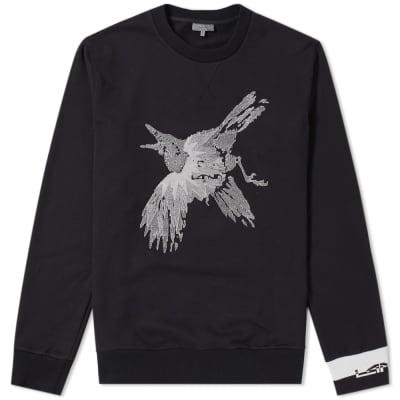Lanvin Bird Embroidered Crew Sweat