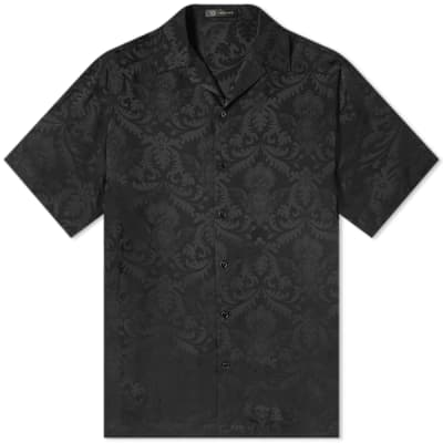 Versace Floral Scroll Print Vacation Shirt