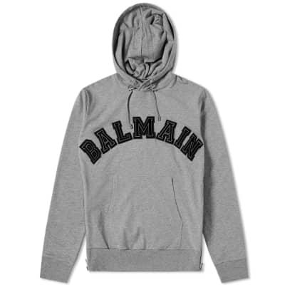 Balmain Applique Logo Popover Hoody