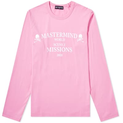 MASTERMIND WORLD Long Sleeve Missions Logo Tee